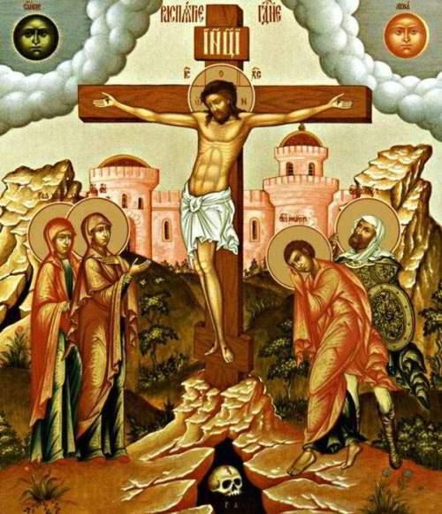 молитва, поминание, крест, свечи в храме, икона распятия, Как молиться за усопших