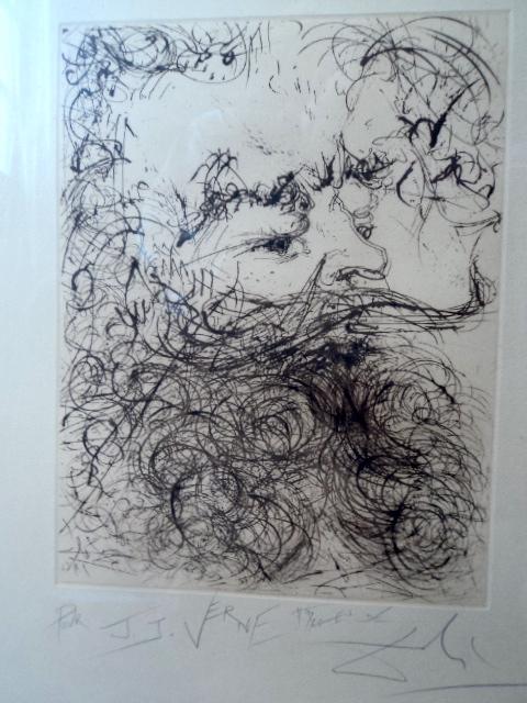 Жюль Верн, Сальвадор Дали, рисунок