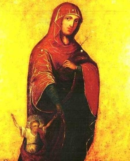 Иконы Богородицы, румынская икона Первые шаги, молодым семьям