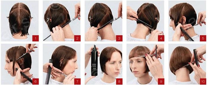 Технология боб каре стрижка женская