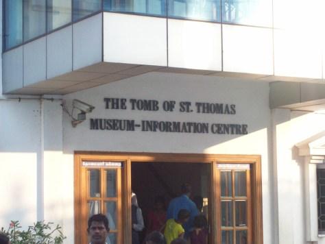 The entrance to the tomb of St. Thomas in Chennai, India. Taken by Rev. Todd Lattig