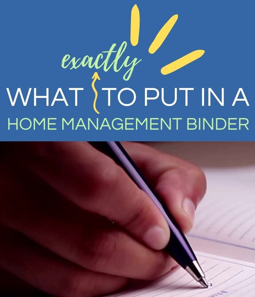What should be in a home management binder?