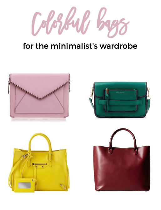 Colorful bags for your minimalist wardrobe