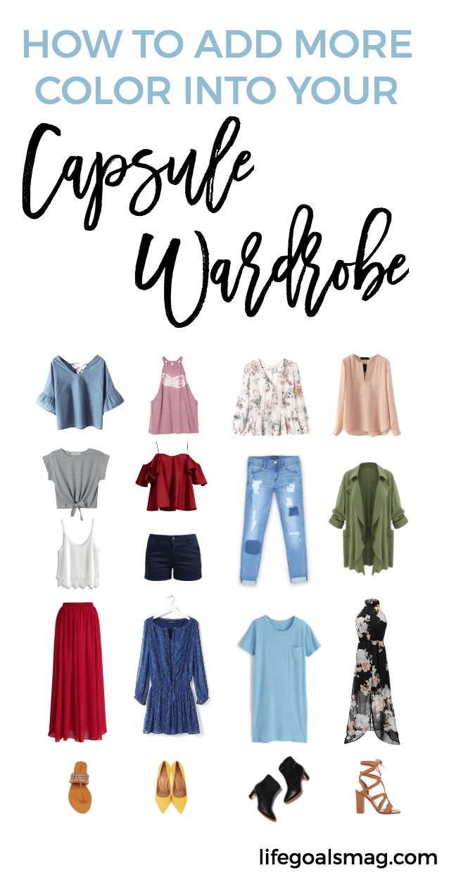 how to add color to your capsule wardrobe this summer