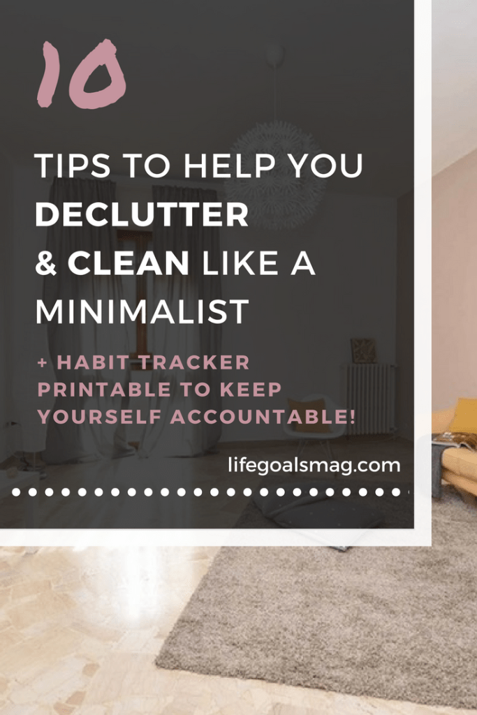 Spring cleaning like a minimalist. Declutter with minimal effort.