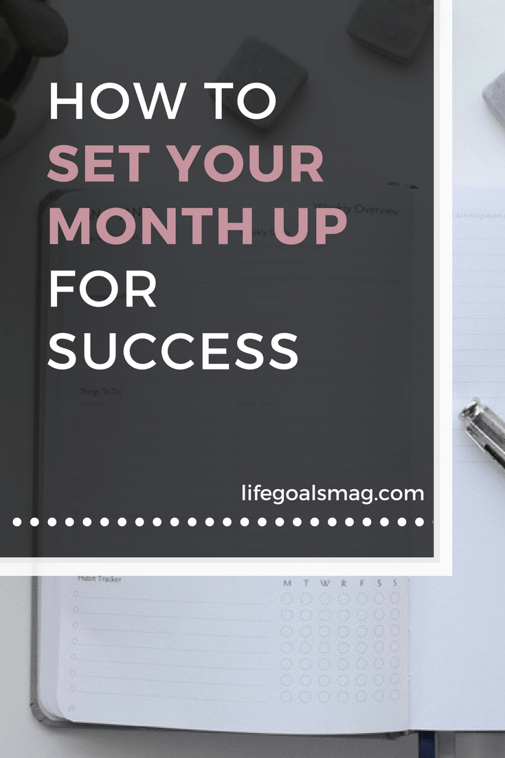 tips for planning your month