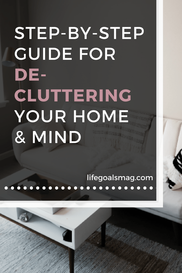 a guide to decluttering your home. tips for spring decorating
