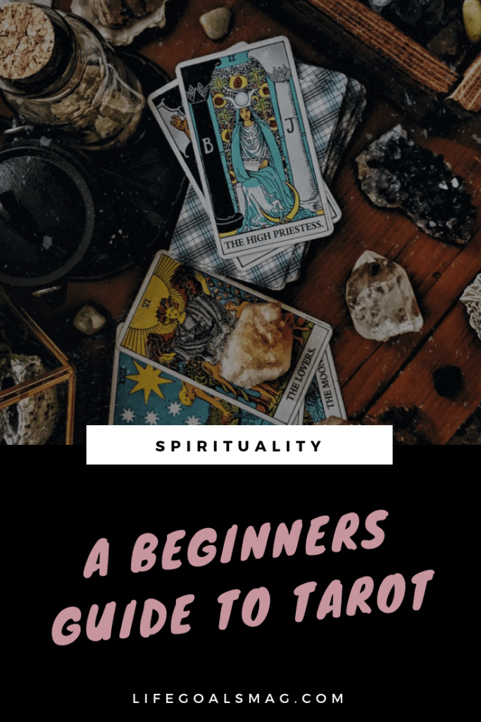 beginners guide to tarot and using spiritual practices to connect to yourself and increase your self-awareness.