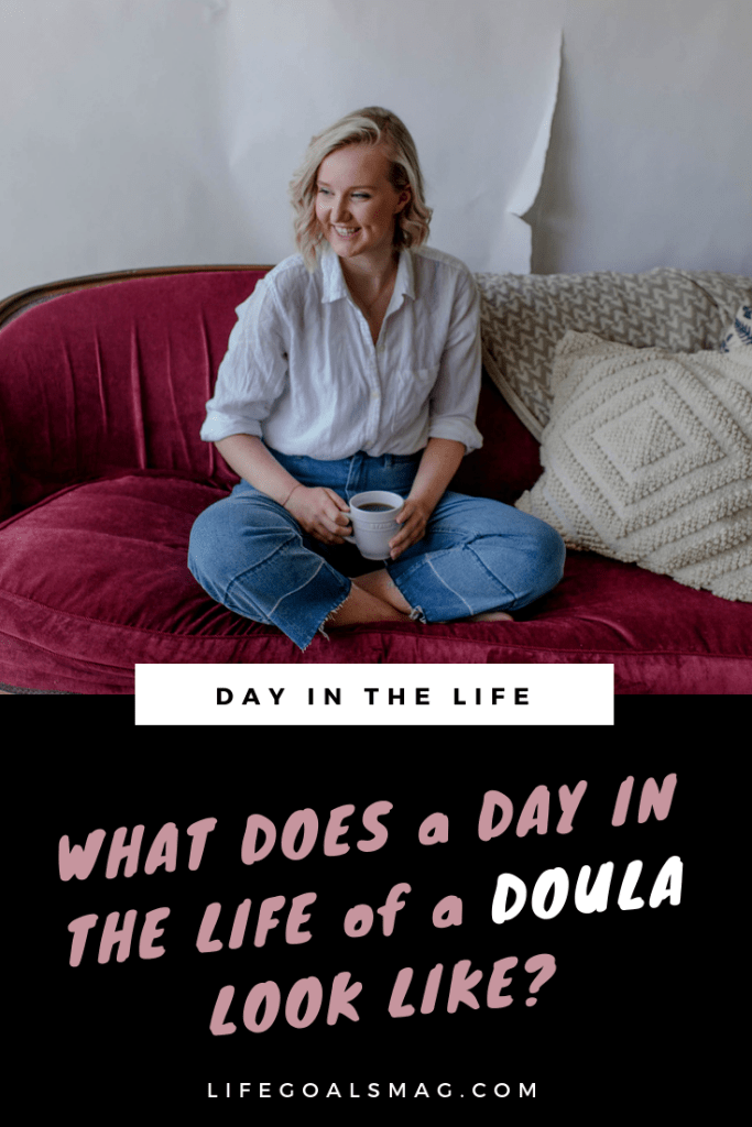 a day in the life of a doula – what's the career like helping moms with birth and supporting their transition to motherhood. find out more and get inspired by Rhiannon's exciting career path.