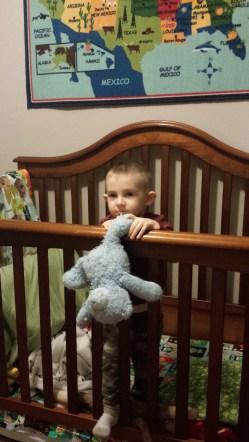 "His bear, ""baby."""