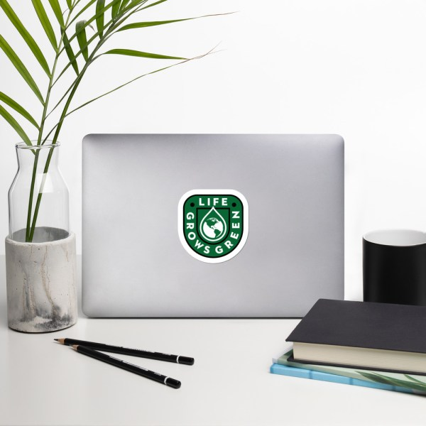 Life Grows Green Sticker