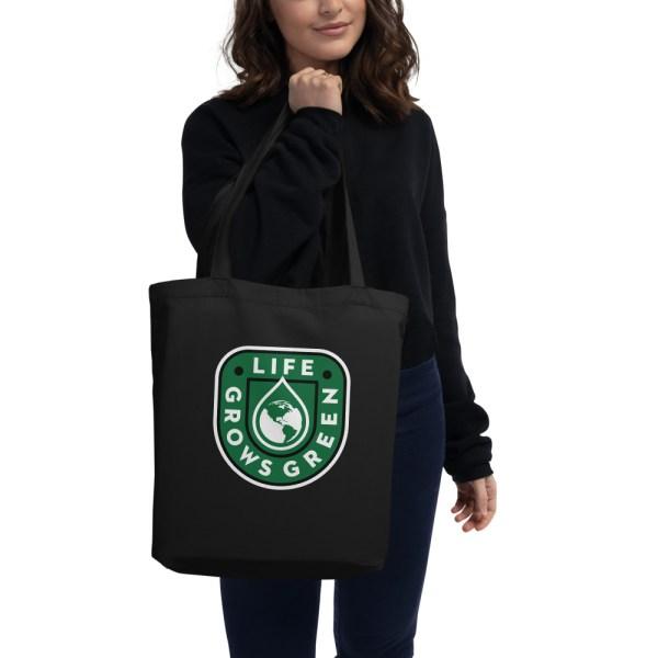 Black Life Grows Green Tote Bag.