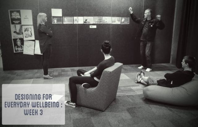 Banner - Designing For Everyday Wellbeing Week 3 - Photo of Tutor And Students