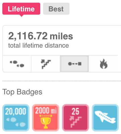 After one year on the LifehackrDiet this is what I had walked. I had not been to the gym!