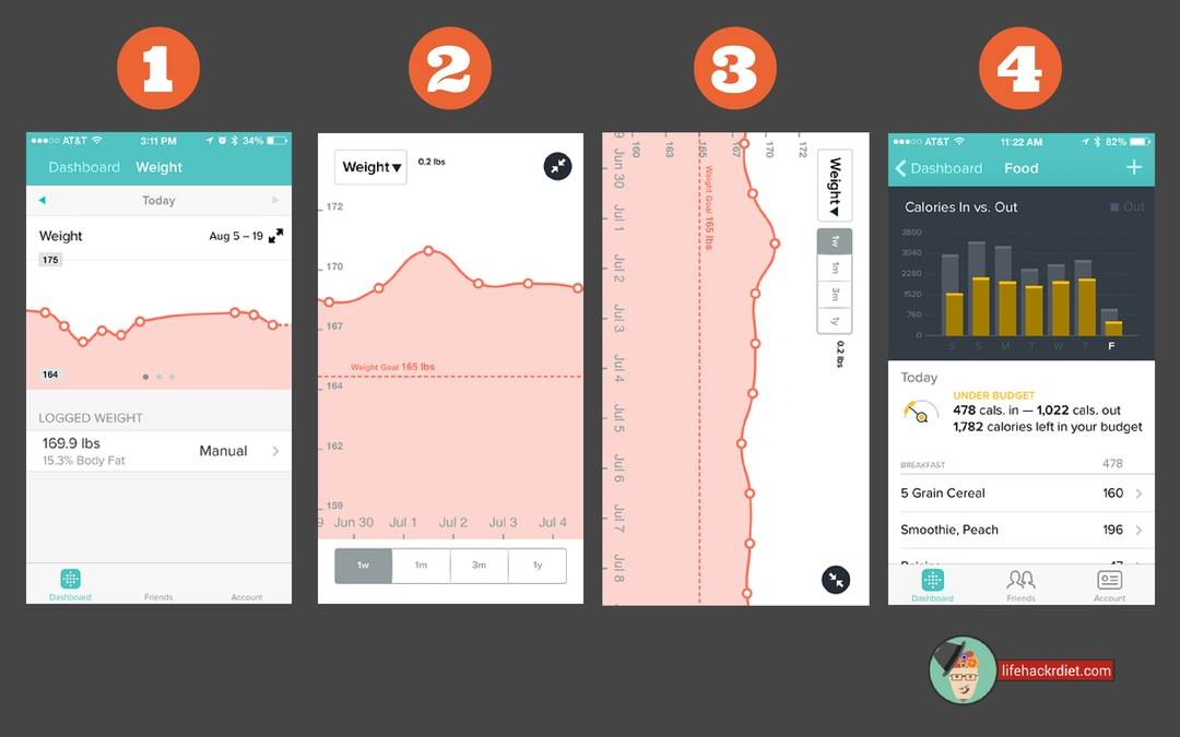Kickstart Your Diet! Observe. Fitbit app two ways to observe your data.
