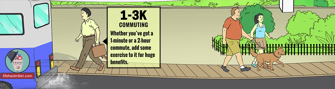 Workout at Work: Commuting