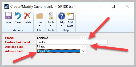 Custom Link Employee 007