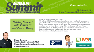 Come hear me during Summit Australia!