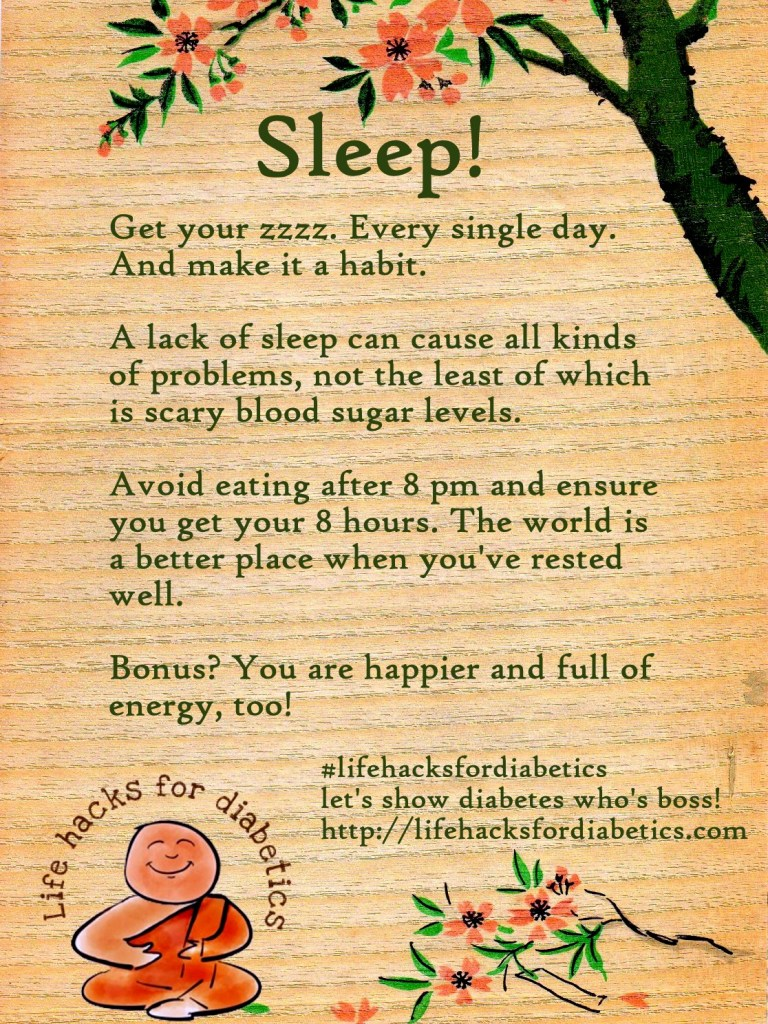 Sleep #lifehacksfordiabetics