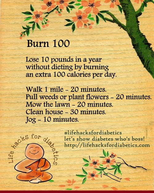 Burn 100 #LifeHacksForDiabetics