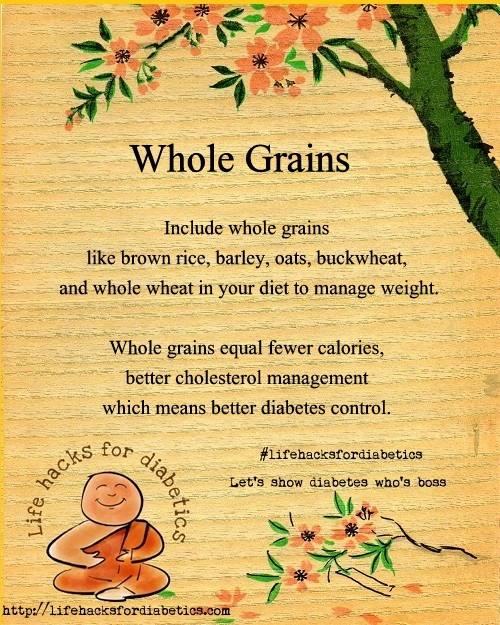 whole grains life hacks for diabetics