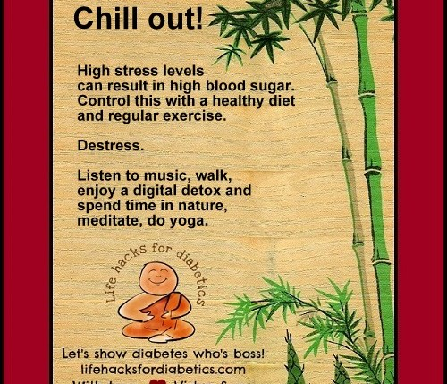 Chill out Lifehacksfordiabetics Vidya Sury