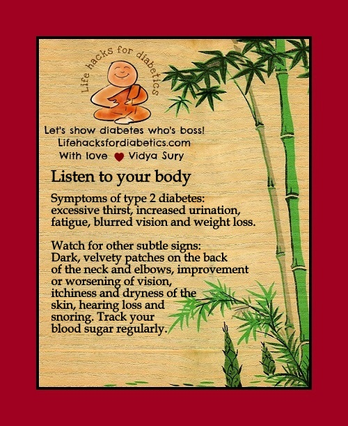 Listen to your body vidya sury