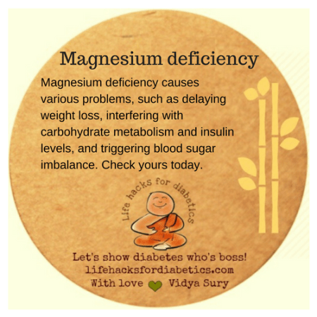 Magnesium deficiency #lifehacksfordiabetics