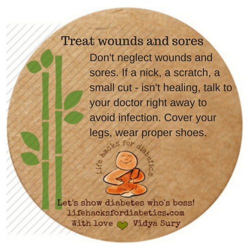 treat wounds and sores