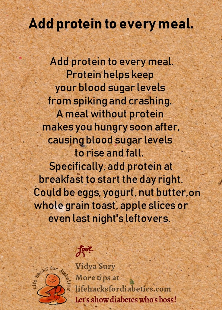 Add protein to every meal