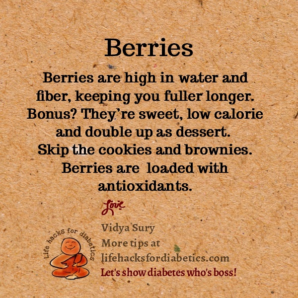 Berries #lifehacksfordiabetics