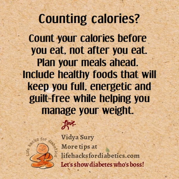 Counting calories? #lifehacksfordiabetics