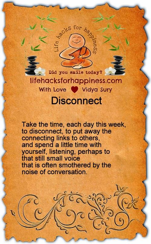 Disconnect Vidya Sury