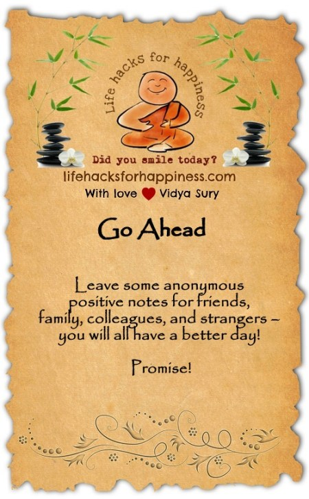 Go ahead Vidya Sury