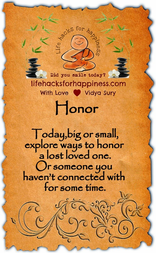 Honor Vidya Sury