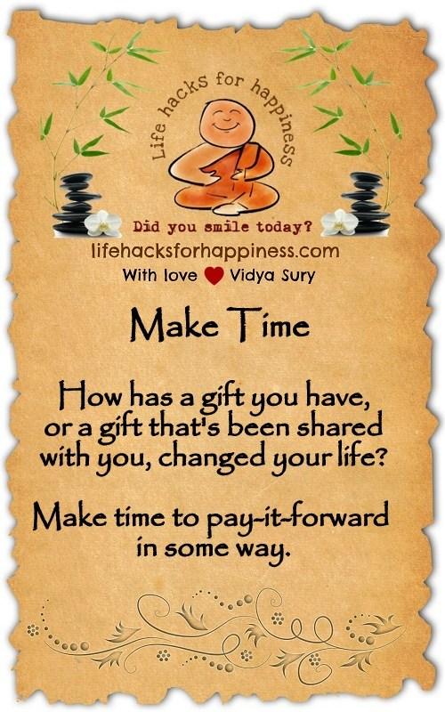 Make time Vidya Sury