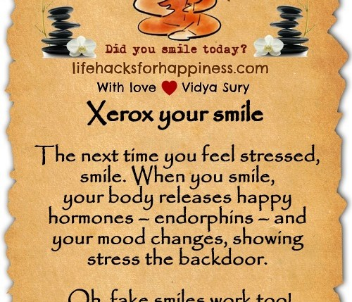 Xerox your smile Vidya Sury
