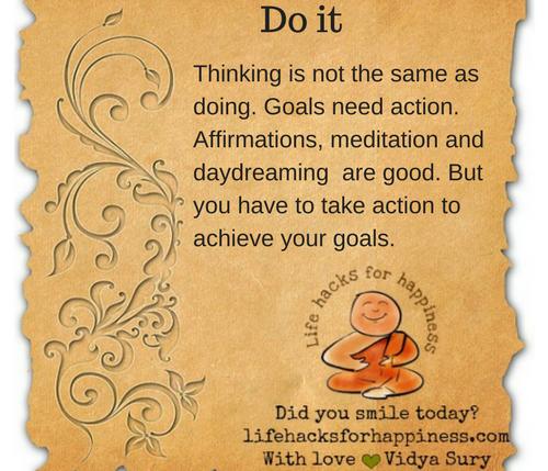 Do it #Lifehacksforhappiness