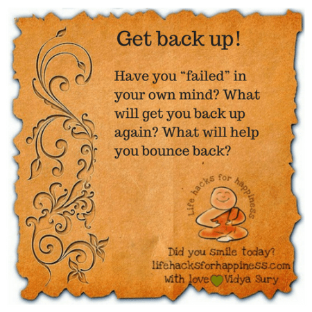 Get back up #lifehacksforhappiness
