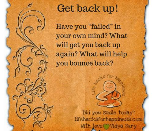 Get back up #lifehacksforhappiness