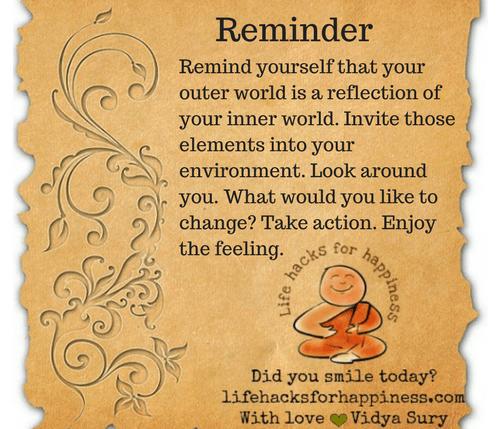 Reminder #lifehacksforhappiness