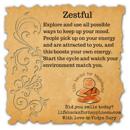 Zestful #lifehacksforhappiness