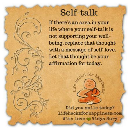 Self talk #lifehacksforhappiness