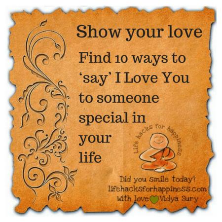 Show your love Vidya Sury
