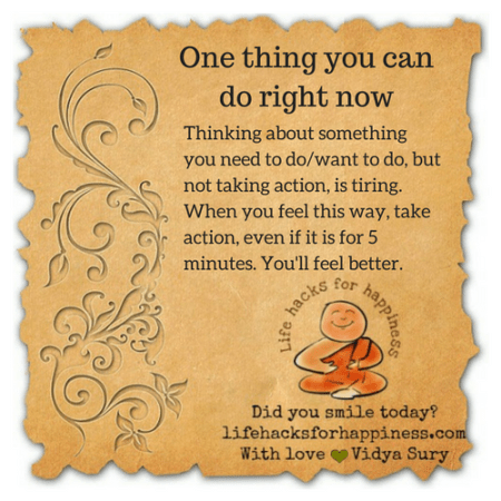 one thing you can do right now #lifehacksforhappiness