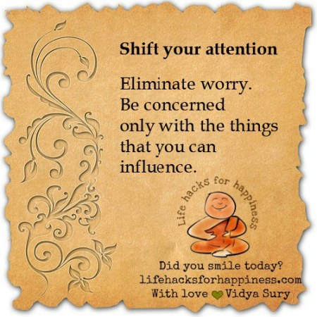 Shift your attention #lifehacksforhappiness