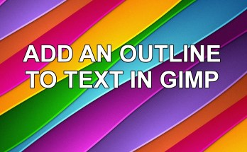 Add an outline to text in Gimp