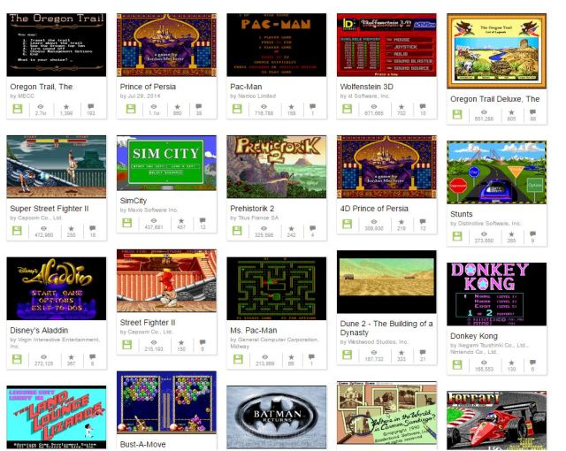 Play classic video games in your browser