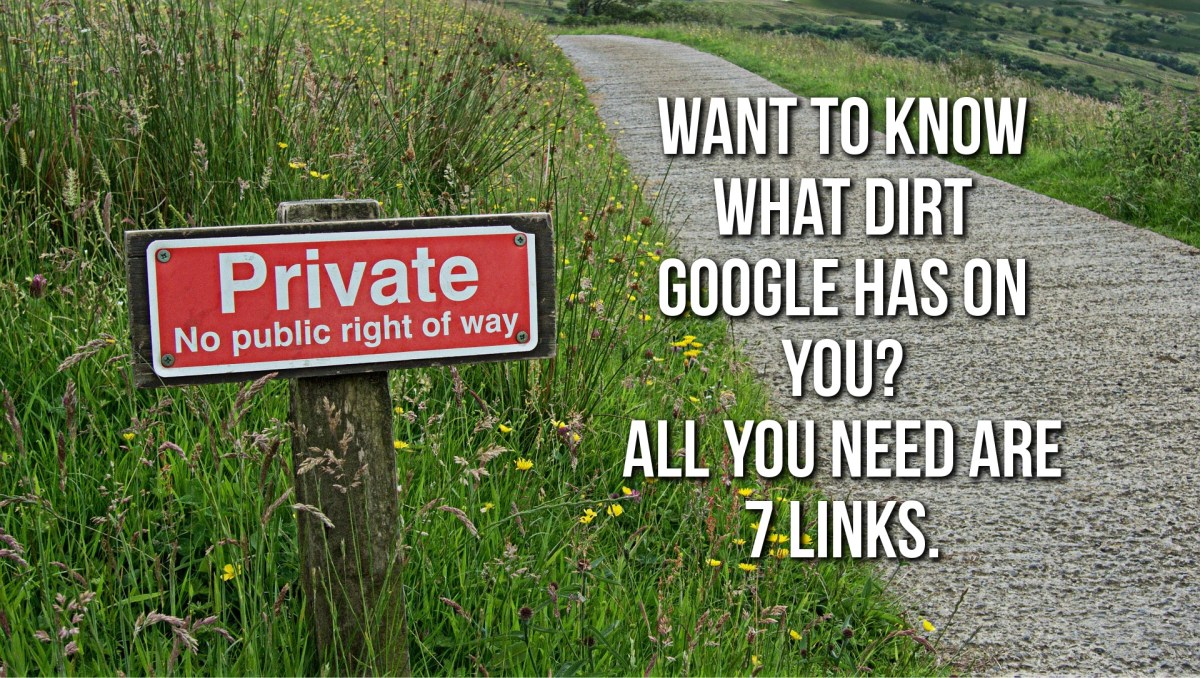 Want To See What Dirt Google Has On You?