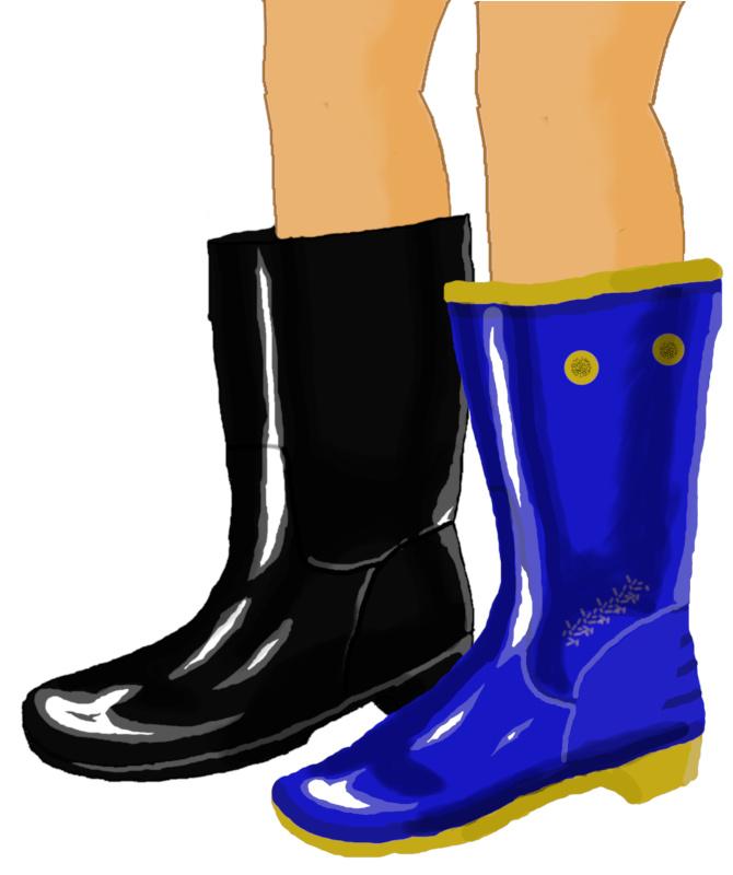 黒長靴とトレンチボーイ